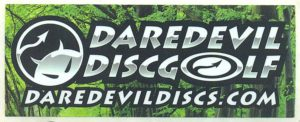 Daredevil Disc Golf Sticker