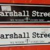 Marshall Street Car Magnet - WhiteOnBlack