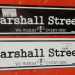 Marshall Street Car Magnet - BlackonWhite