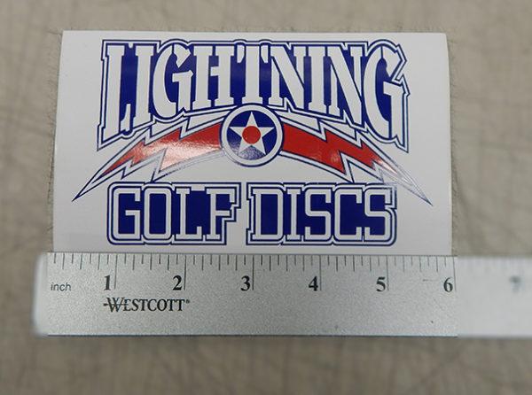 Lightning Golf Discs Sticker