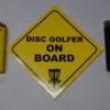 Disc Golfer on Board Sticker