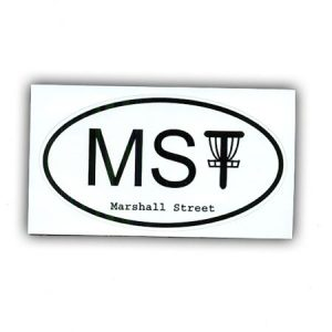 MSt Oval Logo Sticker, White