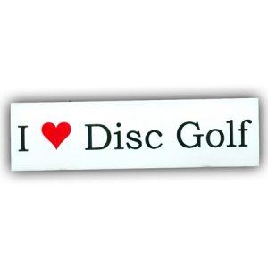 I Love Disc Golf Sticker Small