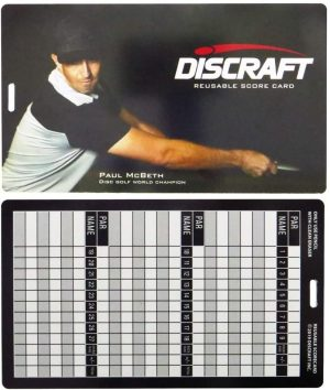 Discraft Reusable Scorecard