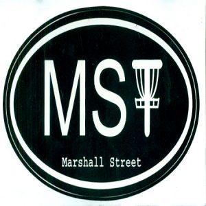 MSt Oval Logo Sticker, Black
